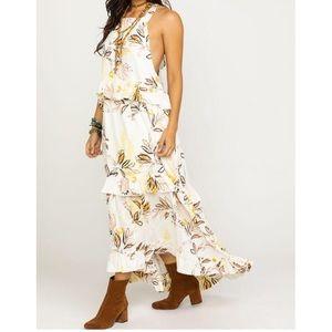 Free People Anita Printed Maxi Dress In Ivory M